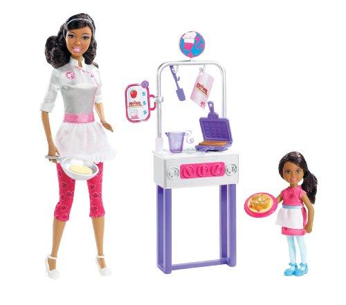 バービー バービー人形 バービーキャリア バービーアイキャンビー 職業 X0100 Barbie I Can Be Pancake Chef Doll & Playset, Brunetteバービー バービー人形 バービーキャリア バービーアイキャンビー 職業 X0100