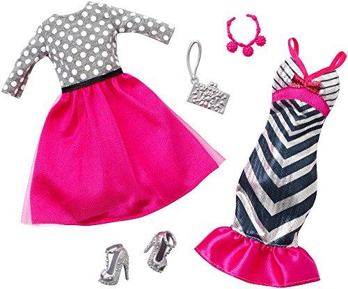 バービー バービー人形 着せ替え 衣装 ドレス DHB41 【送料無料】Barbie Fashion Pack 2-Pack, Pink Glitzy Stripesバービー バービー人形 着せ替え 衣装 ドレス DHB41