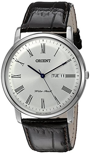 オリエント 腕時計 メンズ FUG1R009W9 【送料無料】Orient Men's 'Capital Version 2' Quartz Stainless Steel and Leather Dress Watch, Color:Brown (Model: FUG1R009W9)オリエント 腕時計 メンズ FUG1R009W9