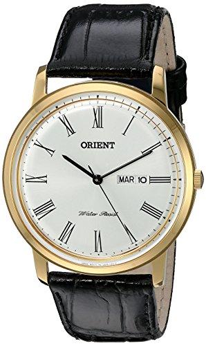 オリエント 腕時計 メンズ FUG1R006W9 Orient Men's 'Capital Version 2' Quartz Stainless Steel and Leather Dress Watch, Color:Brown (Model: FUG1R006W9)オリエント 腕時計 メンズ FUG1R006W9