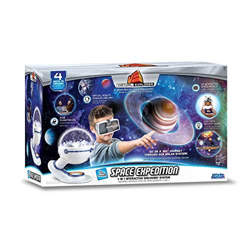 アンクルミルトン 知育玩具 科学 2044 Virtual Explorer Space Expedition 4-in-1 VR, AR, hands-on play and learning system with Star Planetarium, VR Goggles and App, Augmented Reality cards and Explorer Guideアンクルミルトン 知育玩具 科学 2044