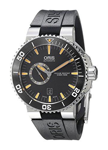 オリス 腕時計 メンズ 74376734159RS 【送料無料】Oris Men's 74376734159RS Aquis Analog Display Swiss Automatic Black Watchオリス 腕時計 メンズ 74376734159RS