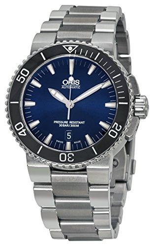 オリス 腕時計 メンズ 73376534135MB Oris Men's Aquis Swiss-Automatic Diving Watch with Stainless-Steel Strap, Silver, 26 (Model: 73376534135MB)オリス 腕時計 メンズ 73376534135MB