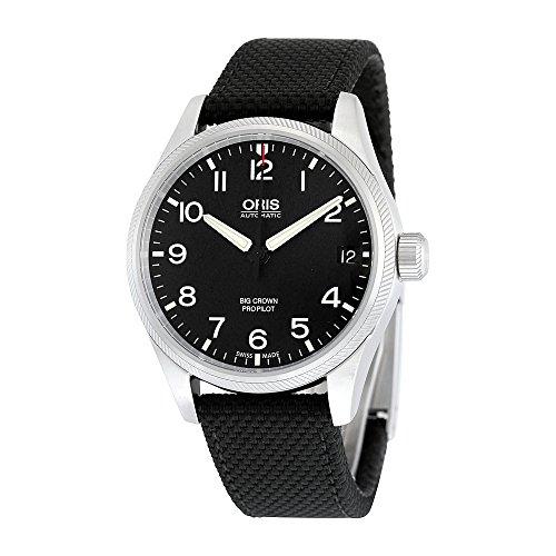 オリス 腕時計 メンズ 751-7697-4164BKFS Oris Big Crown ProPilot Date Automatic Black Dial Black Fabric Mens Watch 751-7697-4164BKFSオリス 腕時計 メンズ 751-7697-4164BKFS