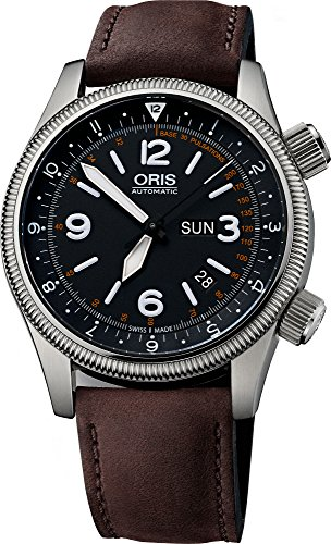 オリス 腕時計 メンズ ORIS-0173576724084-SETLS 【送料無料】Oris Big Crown Royal Flying Doctor Service LE Black Dial Brown Leather Mens Watch 01 735 7672 4084-Set LSオリス 腕時計 メンズ ORIS-0173576724084-SETLS