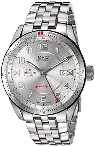 オリス 腕時計 メンズ 74777014461MB Oris Men's 'Audi' Swiss Stainless Steel Automatic Watch, Color:Silver-Toned (Model: 74777014461MB)オリス 腕時計 メンズ 74777014461MB