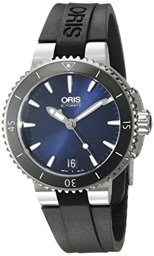"""オリス 腕時計 レディース 73376524135RS 【送料無料】Oris Women""""s Aquis Stainless Steel Swiss-Automatic Diving Watch with Rubber Strap, Black, 18 (Model: 73376524135RS)オリス 腕時計 レディース 73376524135RS"""