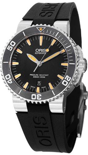 オリス 腕時計 メンズ 733.7653.41.59.RS 【送料無料】Oris Aquis Automatic Black Dial Stainless Steel Mens Watch 733-7653-4159RSオリス 腕時計 メンズ 733.7653.41.59.RS