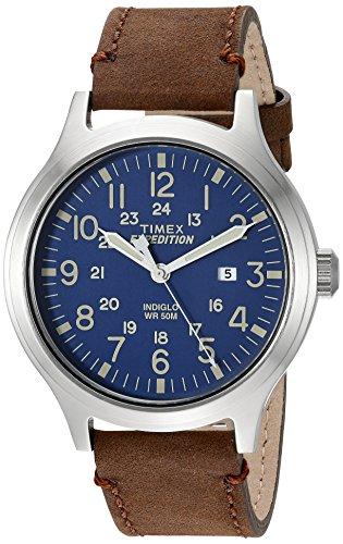 タイメックス 腕時計 メンズ TW4B06400 【送料無料】Timex Men's TW4B06400 Expedition Scout 43 Brown/Blue Leather Strap Watchタイメックス 腕時計 メンズ TW4B06400