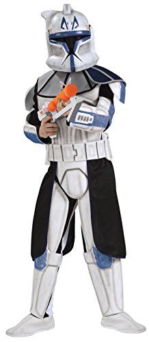 コスプレ衣装 コスチューム スターウォーズ メンズ・レディース・キッズ 883201M 【送料無料】Rubies Star Wars Clone Wars Child's Clone Trooper Deluxe Captain Rex Costume, Meコスプレ衣装 コスチューム スターウォーズ メンズ・レディース・キッズ 883201M