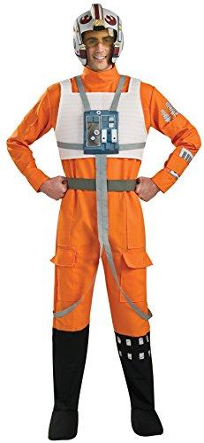 コスプレ衣装 コスチューム スターウォーズ メンズ・レディース・キッズ Rubie's Star Wars X-Wing Pilot Costume Orange / White - X-Large - Chest Size 44-46コスプレ衣装 コスチューム スターウォーズ メンズ・レディース・キッズ