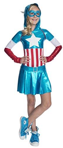 コスプレ衣装 コスチューム その他 610231L 【送料無料】Rubies Marvel Classic Child's American Dream Hoodie Costume Dress, Largeコスプレ衣装 コスチューム その他 610231L