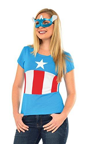 コスプレ衣装 コスチューム その他 810424 Rubie's Marvel Women's Universe American Dream Classic T Shirt, Multi, Largeコスプレ衣装 コスチューム その他 810424