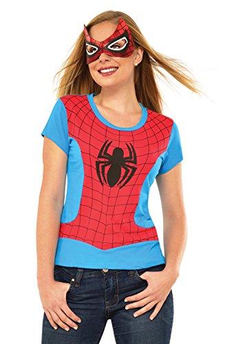 コスプレ衣装 コスチューム その他 810422 Rubie's Marvel Women's Universe Spider-Girl Classic T Shirt, Multi, Smallコスプレ衣装 コスチューム その他 810422
