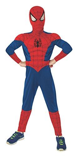 コスプレ衣装 コスチューム スパイダーマン 620010_L 【送料無料】Rubie's Marvel Ultimate Spider-Man Deluxe Muscle Chest Costume, Child Large - Large One Colorコスプレ衣装 コスチューム スパイダーマン 620010_L