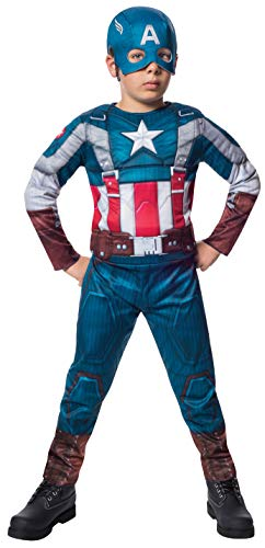 コスプレ衣装 コスチューム キャプテンアメリカ 620046_L Rubies Marvel Comics Collection: Captain America: The Winter Soldier Fiber-Filled Retro Suit Captain America Costume, Child Largeコスプレ衣装 コスチューム キャプテンアメリカ 620046_L