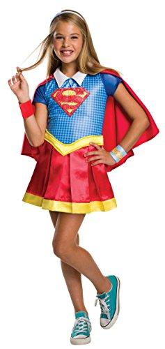 コスプレ衣装 コスチューム スーパーガール 620714_L 【送料無料】Rubie's Costume Kids DC Superhero Girls Deluxe Supergirl Costume, Largeコスプレ衣装 コスチューム スーパーガール 620714_L