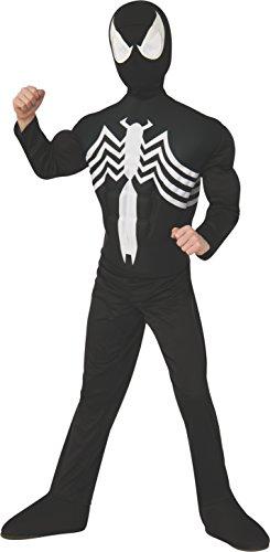 コスプレ衣装 コスチューム スパイダーマン 880601_L 【送料無料】Rubie's Marvel Ultimate Spider-Man / Venom Deluxe Muscle Chest Black Costume, Child Large - Large One Colorコスプレ衣装 コスチューム スパイダーマン 880601_L