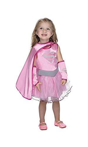 コスプレ衣装 コスチューム スーパーガール Pink Supergirl Halloween Costume Tutu Dress with Cape: Toddler Girls Size 3T-4Tコスプレ衣装 コスチューム スーパーガール