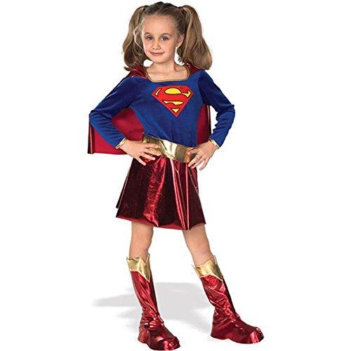 コスプレ衣装 コスチューム スーパーガール 【送料無料】Deluxe Supergirl Kids Costume - Largeコスプレ衣装 コスチューム スーパーガール