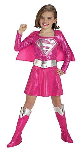 コスプレ衣装 コスチューム スーパーガール 882751MD 【送料無料】Girls Supergirl Pink Kids Child Fancy Dress Party Halloween Costume, M (8-10)コスプレ衣装 コスチューム スーパーガール 882751MD
