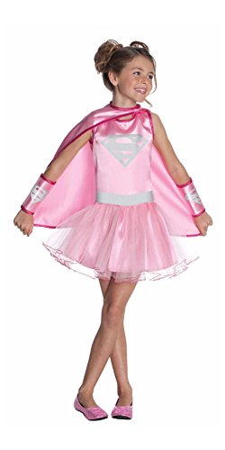 コスプレ衣装 コスチューム スーパーガール 887096 【送料無料】Supergirl Pink Tutu Costume Dress w/Belt, Cape, Gauntlets Girls Size Medium 8-10コスプレ衣装 コスチューム スーパーガール 887096