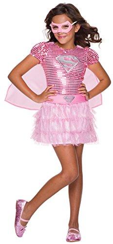 コスプレ衣装 コスチューム スーパーガール 610751_S Rubie's Costume DC Superheroes Supergirl Pink Sequin Child Costume, Smallコスプレ衣装 コスチューム スーパーガール 610751_S