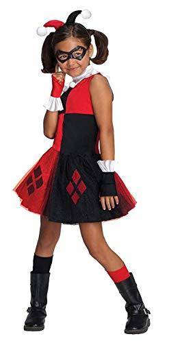 コスプレ衣装 コスチューム その他 886980T DC Super Villain Collection Harley Quinn Girl's Costume with Tutu Dress, Extra-Smallコスプレ衣装 コスチューム その他 886980T