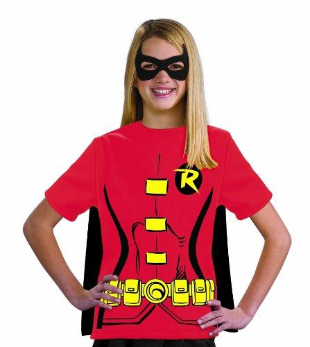 コスプレ衣装 コスチューム その他 881347 Justice League Child's Female Robin 100% Cotton T-Shirt - Mediumコスプレ衣装 コスチューム その他 881347