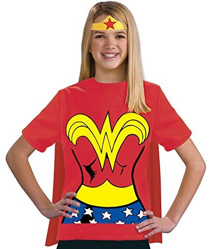 コスプレ衣装 コスチューム その他 881348 Justice League Child's Wonder Woman 100% Cotton T-Shirt - Largeコスプレ衣装 コスチューム その他 881348