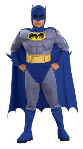 コスプレ衣装 コスチューム バットマン 883482S 【送料無料】Rubie's Batman Deluxe Muscle Chest Child's Costume, Blue, Smallコスプレ衣装 コスチューム バットマン 883482S