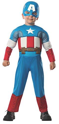 コスプレ衣装 コスチューム キャプテンアメリカ 620018 【送料無料】Rubie's Marvel Super Hero Adventure's Muscle Chest Costume, Captain America, Toddlerコスプレ衣装 コスチューム キャプテンアメリカ 620018