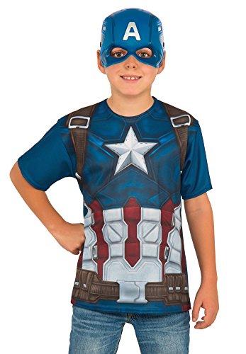コスプレ衣装 コスチューム キャプテンアメリカ 620719_M Rubie's Costume Captain America: Civil War Child Top and Mask, Mediumコスプレ衣装 コスチューム キャプテンアメリカ 620719_M