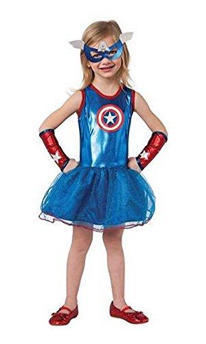 コスプレ衣装 コスチューム キャプテンアメリカ Captain America Avengers Costume Tutu Dress/Mask Toddler Girl Size 3T-4T Rubie'sコスプレ衣装 コスチューム キャプテンアメリカ