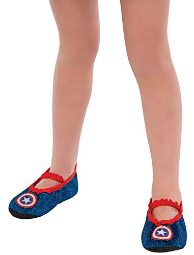 コスプレ衣装 コスチューム キャプテンアメリカ 35649_NS Marvel Universe Classic Child's Captain America Costume Slipper Shoesコスプレ衣装 コスチューム キャプテンアメリカ 35649_NS