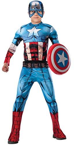 コスプレ衣装 コスチューム キャプテンアメリカ 620021_M 【送料無料】Marvel Avengers Assemble Captain America Deluxe Muscle-Chest Costume, Mediumコスプレ衣装 コスチューム キャプテンアメリカ 620021_M