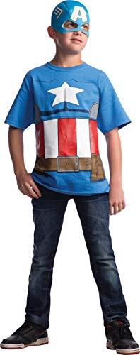 コスプレ衣装 コスチューム キャプテンアメリカ 620029_L Marvel Avengers Assemble Captain America Costume T-Shirt with Mask, Largeコスプレ衣装 コスチューム キャプテンアメリカ 620029_L