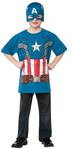 コスプレ衣装 コスチューム キャプテンアメリカ 620007_M Rubies Captain America: The Winter Soldier Retro Style Costume Top and Mask, Child Mediumコスプレ衣装 コスチューム キャプテンアメリカ 620007_M