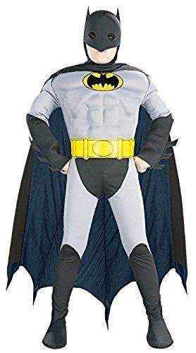 コスプレ衣装 コスチューム バットマン 882211m 【送料無料】Super DC Heroes Deluxe Muscle Chest The Batman Child's Costume, Mediumコスプレ衣装 コスチューム バットマン 882211m