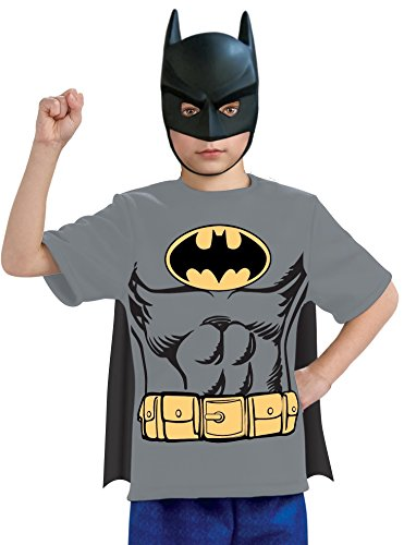 コスプレ衣装 コスチューム バットマン 881342 Rubie's Justice League Child's Batman T-Shirt with Mask and Removable Cape, Largeコスプレ衣装 コスチューム バットマン 881342