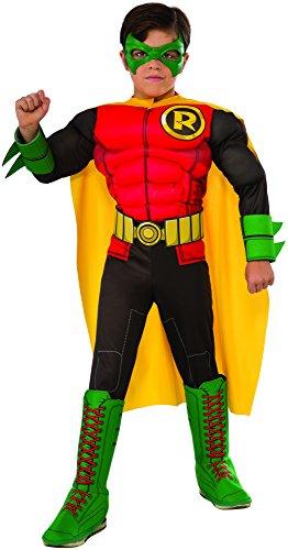 コスプレ衣装 コスチューム その他 610829_L 【送料無料】DC Superheroes Deluxe Robin Costume, Child's Largeコスプレ衣装 コスチューム その他 610829_L