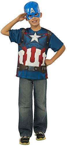 コスプレ衣装 コスチューム キャプテンアメリカ 610426_L Rubie's Costume Avengers 2 Age of Ultron Child's Captain America T-Shirt and Mask, Largeコスプレ衣装 コスチューム キャプテンアメリカ 610426_L