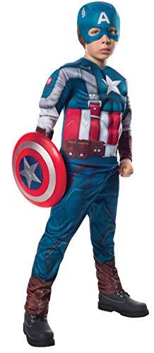 コスプレ衣装 コスチューム キャプテンアメリカ 885079_L 【送料無料】Rubies Marvel Comics Collection: Captain America: The Winter Soldier Deluxe Retro Suit Captain America Costume, Child Largeコスプレ衣装 コスチューム キャプテンアメリカ 885079_L