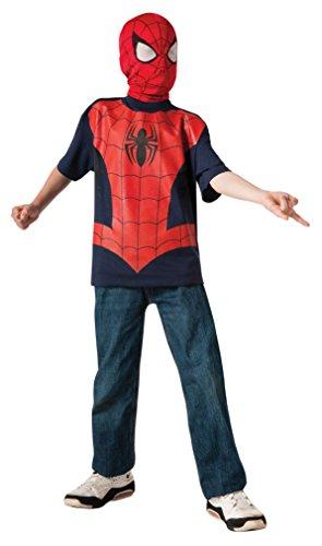 コスプレ衣装 コスチューム スパイダーマン 883269_L 【送料無料】Rubie's Marvel Ultimate Spider-man T-Shirt and Mask, Child Large - Child Large One Colorコスプレ衣装 コスチューム スパイダーマン 883269_L