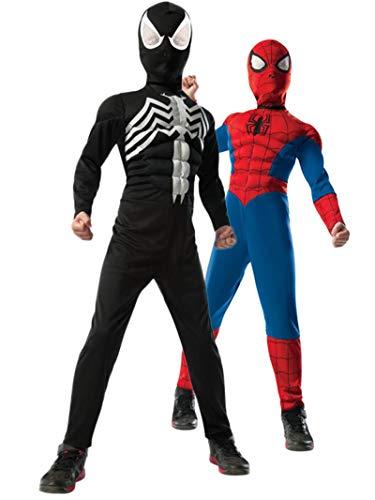 コスプレ衣装 コスチューム スパイダーマン 【送料無料】2-1 Ultimate Reversible Spiderman Costume for Kids MEDIUMコスプレ衣装 コスチューム スパイダーマン