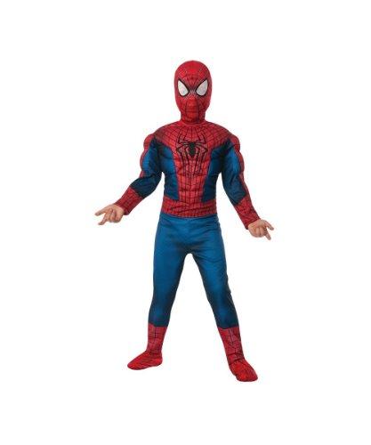 コスプレ衣装 コスチューム スパイダーマン 【送料無料】Amazing Spiderman 2 Boy's Movie Muscle Costume, Large (12-14)コスプレ衣装 コスチューム スパイダーマン