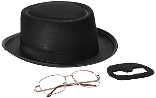 コスプレ衣装 コスチューム その他 4719 【送料無料】Rasta Imposta Men's Breaking Bad Heisenberg Kit, Black, One Sizeコスプレ衣装 コスチューム その他 4719