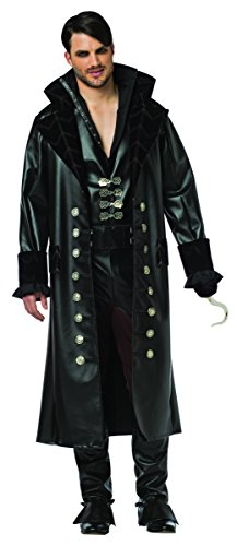 コスプレ衣装 コスチューム その他 3853-XL Rasta Imposta Men's Once Upon A Time Hook, Black, X-Largeコスプレ衣装 コスチューム その他 3853-XL