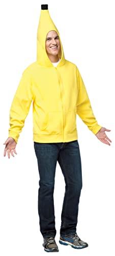 コスプレ衣装 コスチューム その他 16001-M 【送料無料】Rasta Imposta Men's Banana Hoodie, Yellow/Black, Mediumコスプレ衣装 コスチューム その他 16001-M