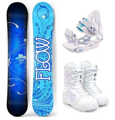 スノーボード ウィンタースポーツ フロウ 2017年モデル2018年モデル多数 Flow 2018 Star Women's Complete Snowboard Package M3 Bindings M3 Boots - Board Size 144 (Boot size 9)スノーボード ウィンタースポーツ フロウ 2017年モデル2018年モデル多数